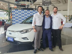Nicolas Habib (Jac Motors Brazil Managing Director) Marcelo Julião (Jac Motors Brazil Marketing Director) Cassio Enrico Campos (Scope Technology - Brazil Sales Director)